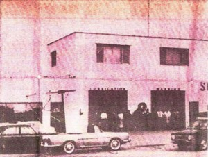Sarg's Garage in Angus Ontario around 1958 or shortly afterwards
